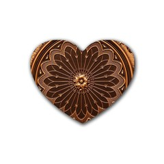 Decorative Antique Gold Heart Coaster (4 Pack)  by BangZart