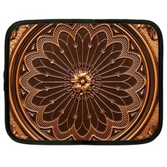 Decorative Antique Gold Netbook Case (large) by BangZart