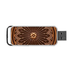 Decorative Antique Gold Portable Usb Flash (two Sides) by BangZart