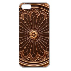 Decorative Antique Gold Apple Seamless Iphone 5 Case (clear) by BangZart