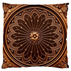 Decorative Antique Gold Standard Flano Cushion Case (two Sides) by BangZart