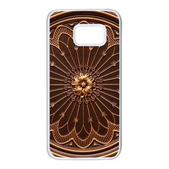 Decorative Antique Gold Samsung Galaxy S7 White Seamless Case by BangZart