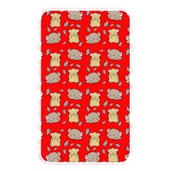 Cute Hamster Pattern Red Background Memory Card Reader by BangZart