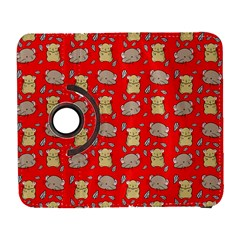 Cute Hamster Pattern Red Background Galaxy S3 (flip/folio) by BangZart