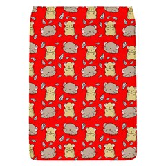 Cute Hamster Pattern Red Background Flap Covers (s)