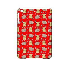 Cute Hamster Pattern Red Background Ipad Mini 2 Hardshell Cases by BangZart