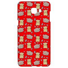 Cute Hamster Pattern Red Background Samsung C9 Pro Hardshell Case