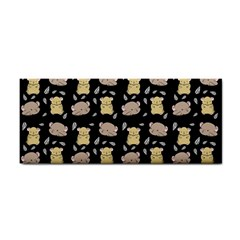 Cute Hamster Pattern Black Background Cosmetic Storage Cases