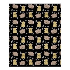 Cute Hamster Pattern Black Background Shower Curtain 60  X 72  (medium)  by BangZart