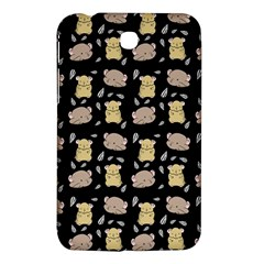 Cute Hamster Pattern Black Background Samsung Galaxy Tab 3 (7 ) P3200 Hardshell Case  by BangZart