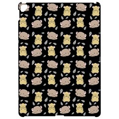 Cute Hamster Pattern Black Background Apple Ipad Pro 12 9   Hardshell Case