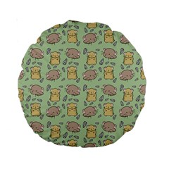 Cute Hamster Pattern Standard 15  Premium Round Cushions by BangZart