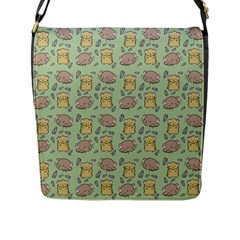 Cute Hamster Pattern Flap Messenger Bag (l)  by BangZart