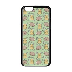 Cute Hamster Pattern Apple Iphone 6/6s Black Enamel Case by BangZart