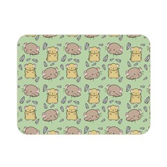 Cute Hamster Pattern Double Sided Flano Blanket (mini)
