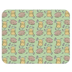 Cute Hamster Pattern Double Sided Flano Blanket (medium)
