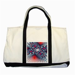 Creative Abstract Two Tone Tote Bag by BangZart