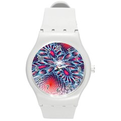 Creative Abstract Round Plastic Sport Watch (m)