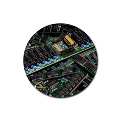 Computer Ram Tech Rubber Coaster (round)  by BangZart