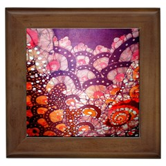 Colorful Art Traditional Batik Pattern Framed Tiles by BangZart
