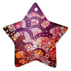 Colorful Art Traditional Batik Pattern Star Ornament (two Sides) by BangZart