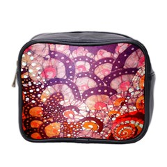 Colorful Art Traditional Batik Pattern Mini Toiletries Bag 2 Side by BangZart