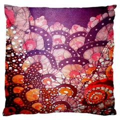 Colorful Art Traditional Batik Pattern Large Flano Cushion Case (two Sides) by BangZart