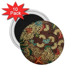 Colorful The Beautiful Of Art Indonesian Batik Pattern 2 25  Magnets (10 Pack)
