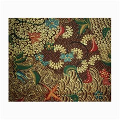 Colorful The Beautiful Of Art Indonesian Batik Pattern Small Glasses Cloth