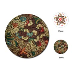 Colorful The Beautiful Of Art Indonesian Batik Pattern Playing Cards (round)  by BangZart