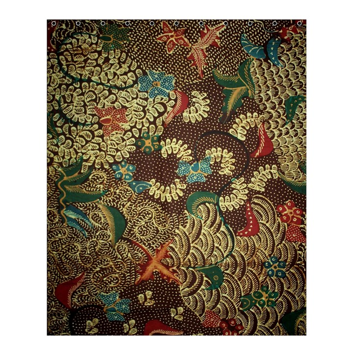 Colorful The Beautiful Of Art Indonesian Batik Pattern Shower Curtain 60  x 72  (Medium)