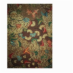 Colorful The Beautiful Of Art Indonesian Batik Pattern Large Garden Flag (two Sides) by BangZart