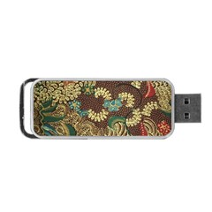 Colorful The Beautiful Of Art Indonesian Batik Pattern Portable Usb Flash (one Side) by BangZart