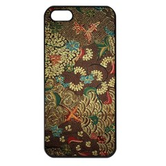 Colorful The Beautiful Of Art Indonesian Batik Pattern Apple Iphone 5 Seamless Case (black) by BangZart