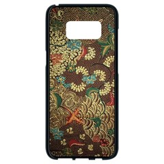 Colorful The Beautiful Of Art Indonesian Batik Pattern Samsung Galaxy S8 Black Seamless Case by BangZart