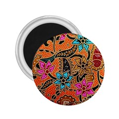 Colorful The Beautiful Of Art Indonesian Batik Pattern(1) 2 25  Magnets by BangZart