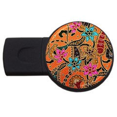 Colorful The Beautiful Of Art Indonesian Batik Pattern(1) Usb Flash Drive Round (2 Gb)
