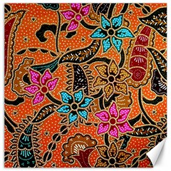 Colorful The Beautiful Of Art Indonesian Batik Pattern(1) Canvas 12  X 12   by BangZart