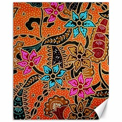 Colorful The Beautiful Of Art Indonesian Batik Pattern(1) Canvas 11  X 14   by BangZart