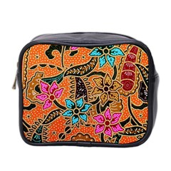 Colorful The Beautiful Of Art Indonesian Batik Pattern(1) Mini Toiletries Bag 2 Side by BangZart