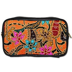 Colorful The Beautiful Of Art Indonesian Batik Pattern(1) Toiletries Bags 2 Side by BangZart