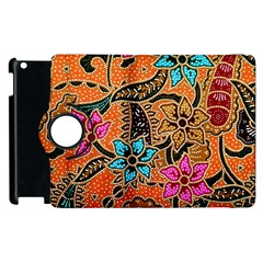 Colorful The Beautiful Of Art Indonesian Batik Pattern(1) Apple Ipad 3/4 Flip 360 Case by BangZart