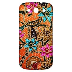 Colorful The Beautiful Of Art Indonesian Batik Pattern(1) Samsung Galaxy S3 S Iii Classic Hardshell Back Case by BangZart