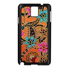 Colorful The Beautiful Of Art Indonesian Batik Pattern(1) Samsung Galaxy Note 3 N9005 Case (black)