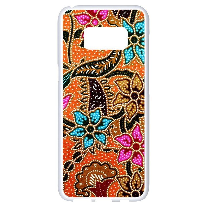 Colorful The Beautiful Of Art Indonesian Batik Pattern(1) Samsung Galaxy S8 White Seamless Case