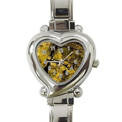 Colorful The Beautiful Of Traditional Art Indonesian Batik Pattern Heart Italian Charm Watch by BangZart