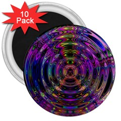Color In The Round 3  Magnets (10 Pack)  by BangZart