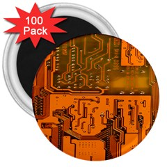Circuit Board Pattern 3  Magnets (100 Pack) by BangZart