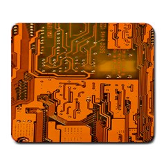 Circuit Board Pattern Large Mousepads by BangZart