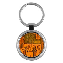 Circuit Board Pattern Key Chains (round)  by BangZart